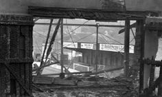 Exit gates in the main stand at Bradford City's Valley Parade stadium, where 56 people died in 1985.