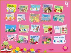 Jugando y aprendiendo juntos: Papelillos 4 años Ed. Algaida. Juegos digitales interactivos