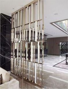 127 Decorative Room Divider Ideas for Your Apartment Deko Raumteiler Idee 26 Design Entrée, Lobby Design, Wall Design, Interior Design, Lobby Interior, Design Hotel, Design Interiors, Luxury Interior, Home Design