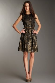 I like that the leopard print is not overpowering and Ellen Tracy kept the shoes a simple solid. Very wearable! Evening Dresses, Formal Dresses, Leopard Dress, Ellen Tracy, Gold Dress, Summer Outfits, Summer Clothes, Spring Summer Fashion, Fashion Dresses