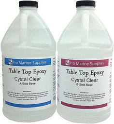 Crystal Clear Bar Table Top Epoxy Resin Coating For Wood Tabletop - 1 Gallon Kit in Business & Industrial, Construction, Building Materials & Supplies | eBay
