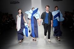 London Fashion Week A/W14 - Central Saint Martins MA Fashion Ondrej Adamek. #UALLFW