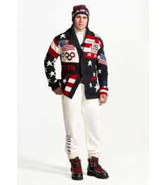 Team USA uniform for #Sochi Opening Ceremonies was designed by Ralph Lauren. Zach Parise looks thrilled to wear it. #fashion #olympics #hockey #nhl #polo