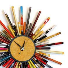 Wall Clocks Paper Art Quartz Clocks Recycled Art by Shannybeebo