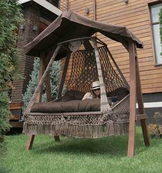 Hanging Swing Chair, Hanging Beds, Swinging Chair, Hanging Chairs, Outdoor Hanging Bed, Hammock Chair, Outdoor Decor, Swing Design, Chair Design