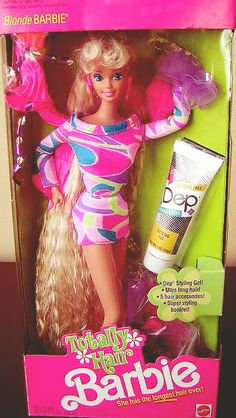 Totally Hair Barbie...had this barbie....she was a brunette & i cut her hair to her shoulders...it suited her better lol