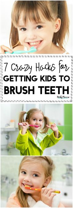 These 7 Crazy Hacks for Getting Your Kids to Brush Their Teeth are LIFE-CHANGING! A must-read for all moms facing a tooth brushing battle!