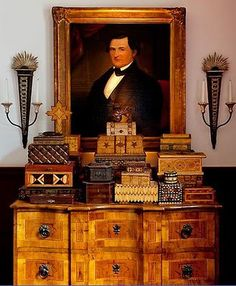 Absolutely LOVE the warm wood and English antique accessories