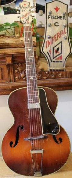 Fischer Style C Imperial Archtop c. 1940 (Probably made by Regal) --- https://www.pinterest.com/lardyfatboy/