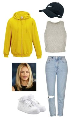 """""""Untitled #124"""" by yasminabuwi on Polyvore featuring River Island, Topshop and NIKE"""