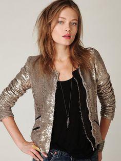 Free People IRO Sequin Jacket