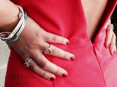 Anillo lazada y corazón #mimossa