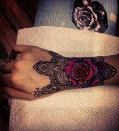 Hand Sleeve Flower Tattoo Ideas