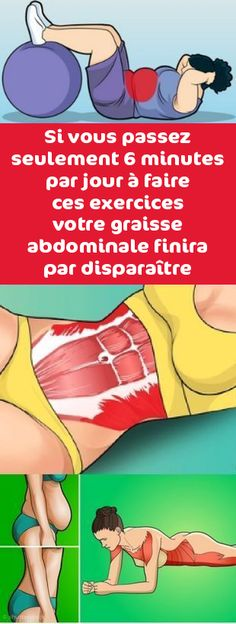 Si vous passez seulement 6 minutes par jour à faire ces exercices votre graisse… If you spend only 6 minutes a day doing these exercises your abdominal fat will eventually disappear Yoga Fitness, Yoga Gym, Health Fitness, Pilates Workout, Gym Workouts, Fitness Studio Training, Fit And Fix, Relaxing Yoga, Abdominal Fat