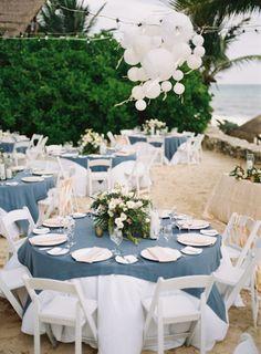 Beach reception: http://www.stylemepretty.com/2014/08/12/intimate-playa-del-carmen-destination-wedding/ | Photography: Brandon Kidd - http://www.brandonkidd.net/