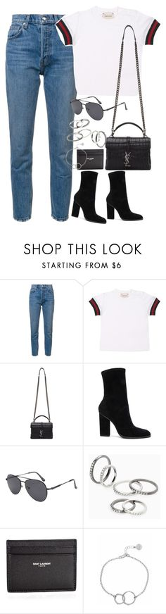 """Sem título #1459"" by oh-its-anna ❤ liked on Polyvore featuring 10 Crosby Derek Lam, Gucci, Yves Saint Laurent, Alexander Wang, MANGO and Chupi"