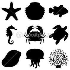 animais marinhos — Ilustração vetorial #3439909