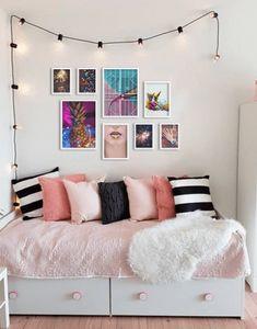 Bedroom Wall, Girls Bedroom, Bedroom Decor, Interior Design Living Room, Living Room Decor, Cosy Room, Bedroom Layouts, Minimalist Bedroom, New Room