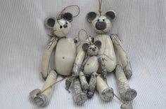 Sur commande: Famille ours déco en céramique Raku : Accessoires de maison par le-jardin-des-creations