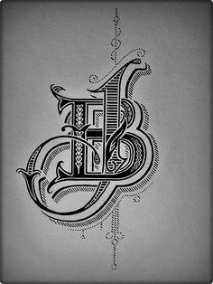 JB logo. Technique: Pigment ink.