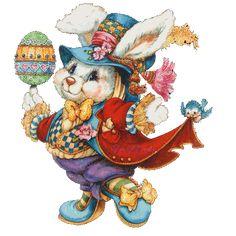 Пасхальный заяц с яйцом