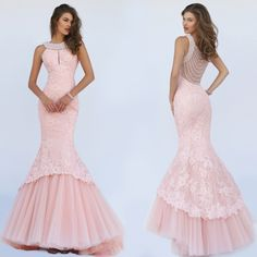 Sherri Hill Lace Mermaid Dress
