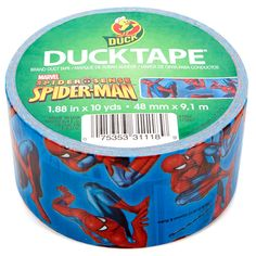 Living in a dorm room means one thing: duct tape.  This lovely versatile product can get just about any job done. Having it in a spider-man print just makes it ten times better. #CLb2s