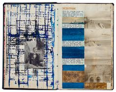 Scrapbook by William Burroughs and Brion Gysin, from Paperwork: A Brief History of Artists' Scrapbooks