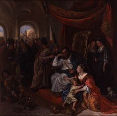 Jan Steen, Moses and Pharaoh's Crown, c. 1670