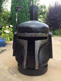 Wood burners & fire pits by Burned by Design - Star Wars Boba Fett Cool Fire Pits, Metal Fire Pit, Diy Fire Pit, Metal Projects, Welding Projects, Gas Bottle Wood Burner, Wood Pellet Stoves, Fire Cooking, Fire Pit Designs