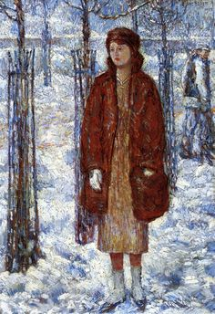 Childe Hassam. The Snowy Winter of 1918, New York, 1918,