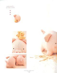 Felt Pig Plush Pattern