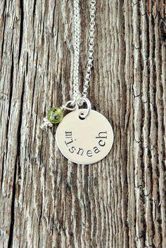 Misneach Irish Gaelic for Courage Necklace