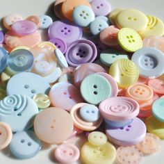 Pastels  50g Mixed Buttons by TheDizzyIzzyShop on Etsy