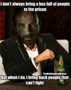 Yeah but, there's bound to be an old guy or two with military background, like Hershel... :)