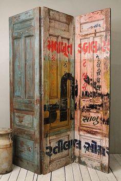 Oude indiase kamer schermen