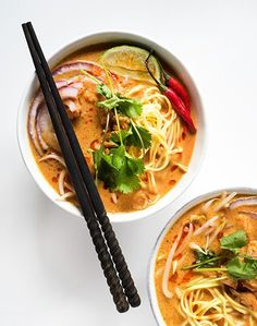 Thai Curry Noodle Soup Spicy Thai Curry Noodle is rich, creamy, and loaded with flavor!Spicy Thai Curry Noodle is rich, creamy, and loaded with flavor! Think Food, I Love Food, Good Food, Yummy Food, Soup Recipes, Vegetarian Recipes, Cooking Recipes, Healthy Recipes, Dinner Recipes