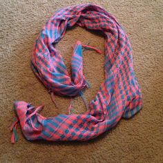 Scarf Supper cute cotton candy colored scarf! Worn twice. Just never wear anymore! Other