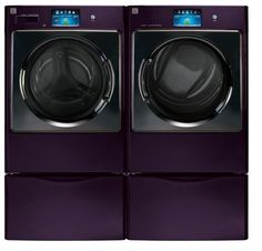 Front-Load Washer - Smarter Clean The Kenmore Elite front-load washer 4110 helps you get fresher and cleaner laundry ever. Purple Home, Shades Of Purple, Dark Purple, My Favorite Color, My Favorite Things, Kenmore Elite, Purple Kitchen, Front Load Washer, All Things Purple