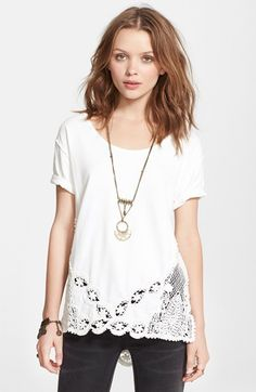 lace detail tee / free people