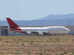 Retired Qantas B747-400 baking in the sun