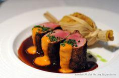 Pork tenderloin inspiration for presentation, beautiful!