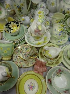 Antique china.  I would love to do an' antique' garden with tea cup planters and old broken plates worked into the stepping stones