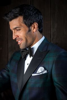 Robert Talbott Not Only the Best In Neckwear & Shirtings, They've Branched Out Into Clothing, Black Watch Tartan Dinner Jacket.