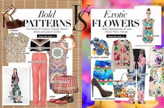 Bold patterns vs Exotic flowers
