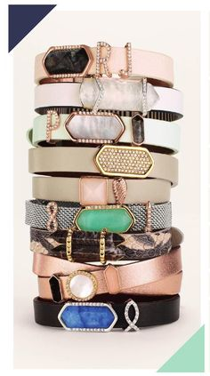 "Keep Collective new ""luxe stone collection"" is perfect for a dressier look!  Jewelry.  Bracelets."