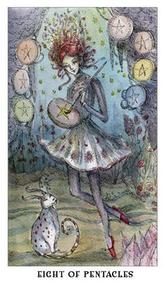 Free Daily Tarotscope — Sept 5, 2014 — Eight of Pentacles --  What are you working on today that you've put all of your heart and soul into?  With Venus moving into Virgo today, working (Virgo) on something you love (Venus) should be taking center stage. ... (more)...