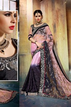 Buy Peach Georgette Designer Saree Online in low price at Variation. Huge collection of Designer Sarees for Wedding. #designer #designersarees #sarees #onlineshopping #latest #lowprice #variation. To see more - https://www.variationfashion.com/collections/designer-sarees
