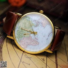 mens watches world maps watch unisex maps by seekjewelry on etsy 349