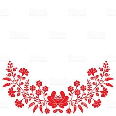 Vector background - traditional pattern from Hungary isolated on white Diy Embroidery Stitches, Cutwork Embroidery, Hungarian Embroidery, Embroidery Patterns, Diy And Crafts Sewing, Arts And Crafts, Fashion Sewing, Embroidered Flowers, Pattern Design